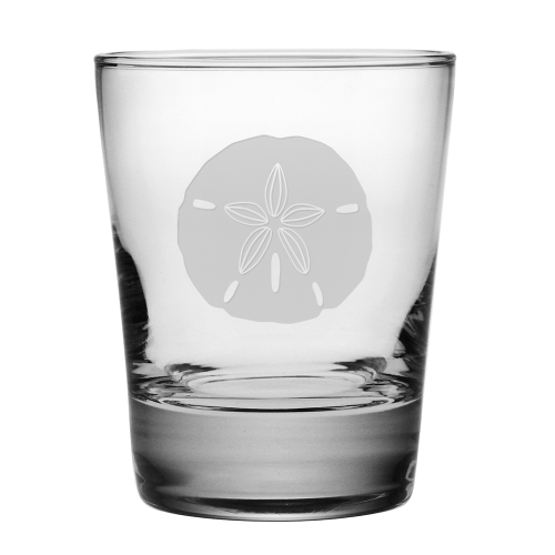Sand Dollar Etched DOF Glasses (set of 4)