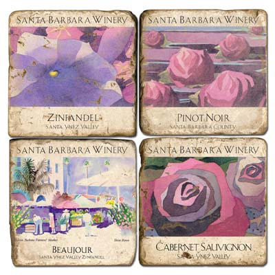 Santa Barbara Winery Marble Coasters