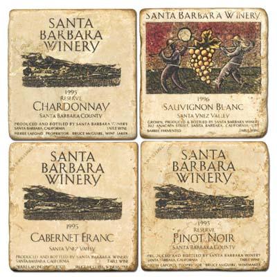 Santa Barbara Tumbled Marble Coasters