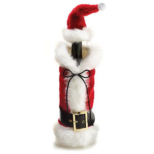 Santa Suit with Santa Hat Bottle Bag