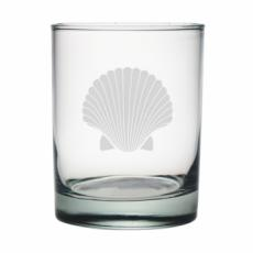 Scallop Shell Etched Dor Glass Set