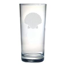 Scallop Shell Etched Hi-Ball Glass Set
