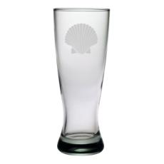 Scallop Shell Etched Grand Pilsner Glass Set