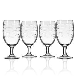 School of Fish Iced Tea Glasses (set of 4)
