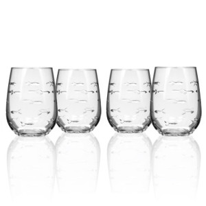 School of Fish Red Wine Tumblers (set of 4)