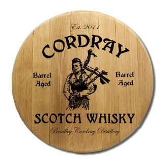 Scotch Whiskey Barrel Head Sign