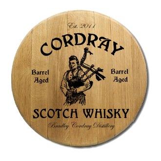 Scotch Whiskey Barrel Head Sign
