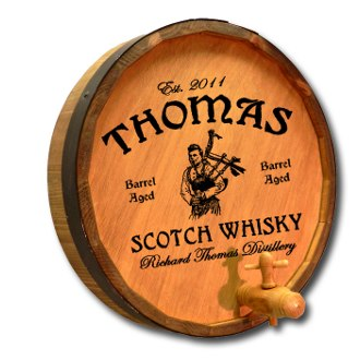 Scotch Whiskey Quarter Barrel Sign