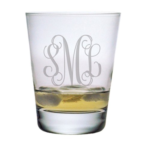 Elegant Scroll Monogram DOF Glasses (set of 4)