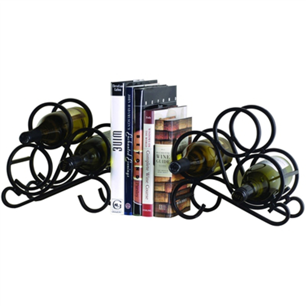 Scroll Wine Rack Bookends
