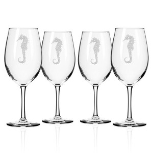 Seahorse All Purpose Large Wine Glasses (set of 4)