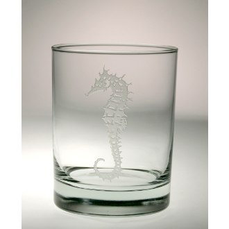 Seahorse Double Old Fashioned Glasses