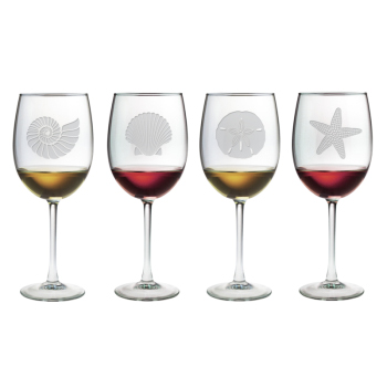 Seashore Stemmed Wine Glasses (set of 4)