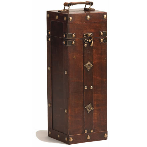 Chateau Treasure Chest Single Bottle Wine Carrier