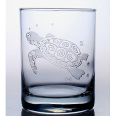 Sea Turtle On The Rocks Glasses (set of 4)