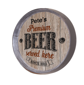 Personalized Premium Beer Barrel Sign