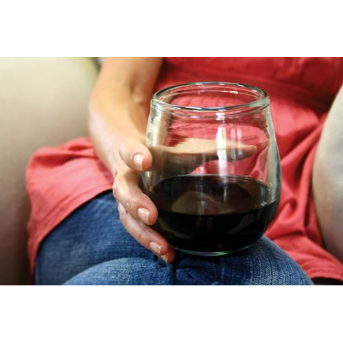 Hand Blown Stemless Wine Glasses (set of 6)