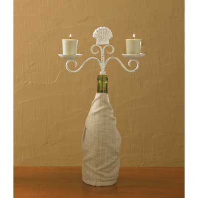 Shell Candleabra Wine Bottle Topper