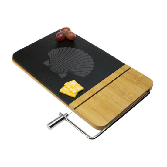 Fan Shell Cheese Board with Slicer