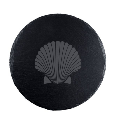 Fan Shell Round Serving Slate