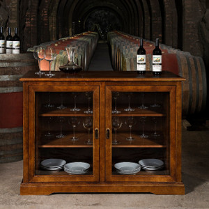 Siena Mezzo Wine Credenza (Walnut)
