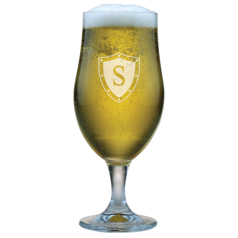 Single Letter Personalized Beer Chalices (set of 4)