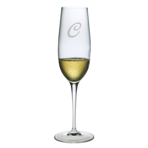 Single Letter Monogram Champagne Glasses (set of 4)