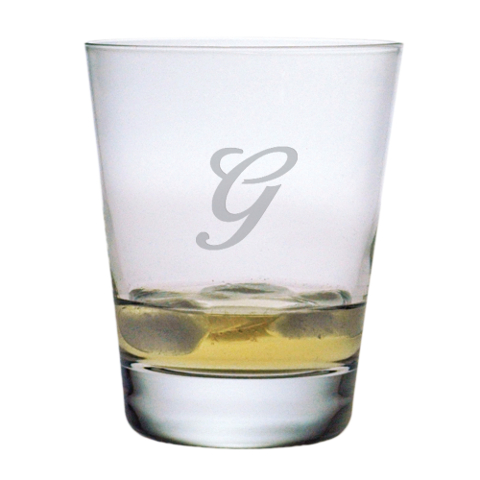 Single Letter Monogram DOF Glasses (set of 4)