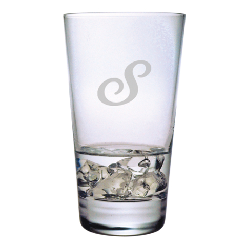 Single Letter Monogram Highball Glasses (set of 4)
