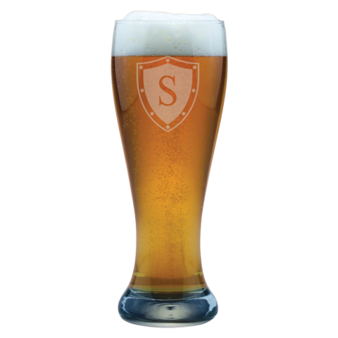 Single Letter Personalized Weizenbier Glasses (set of 4)
