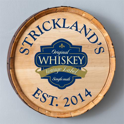 Single Malt Whiskey Barrel Sign - Personalized
