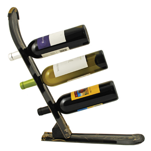 Snow Ski Wine Rack for 3 Bottles