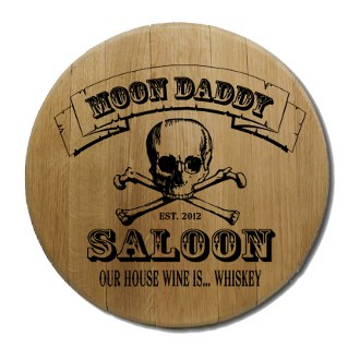Skull and Crossbones Barrel Head Sign