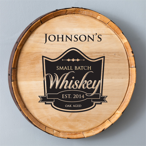 Small Batch Whiskey Barrel Sign