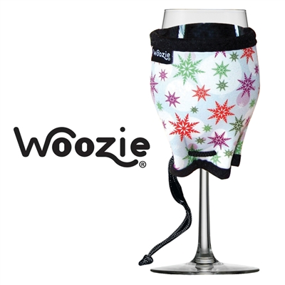 Holiday Snowflakes Wine Glass Woozie