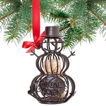 Snowman Cork Cage Bottle Ornaments (set of 3)