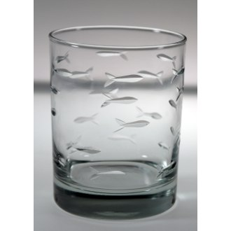 School of Fish Double Old Fashioned Glasses (set of 4)
