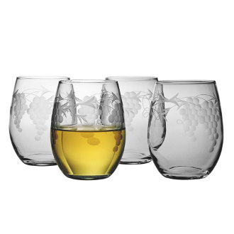 Sonoma Stemless White Wine Glasses (set of 4)