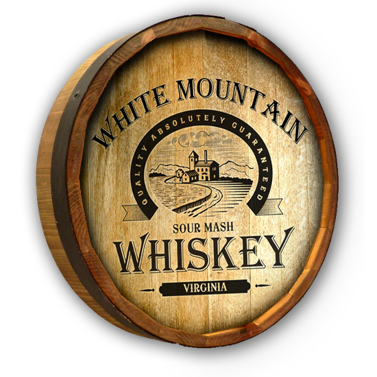 Personalized Sour Mash Whiskey Quarter Barrel Sign