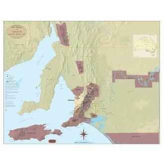 Wine Regions of South Australia Map
