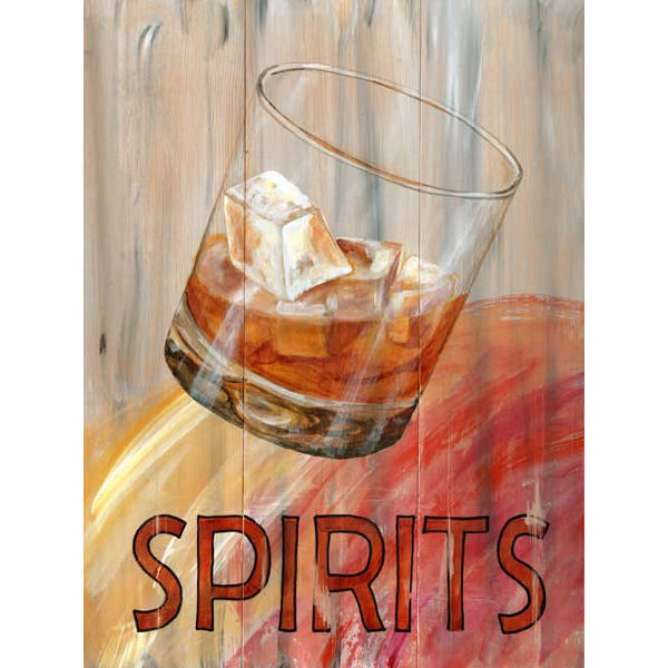 Personalized Spirits Glass Sign