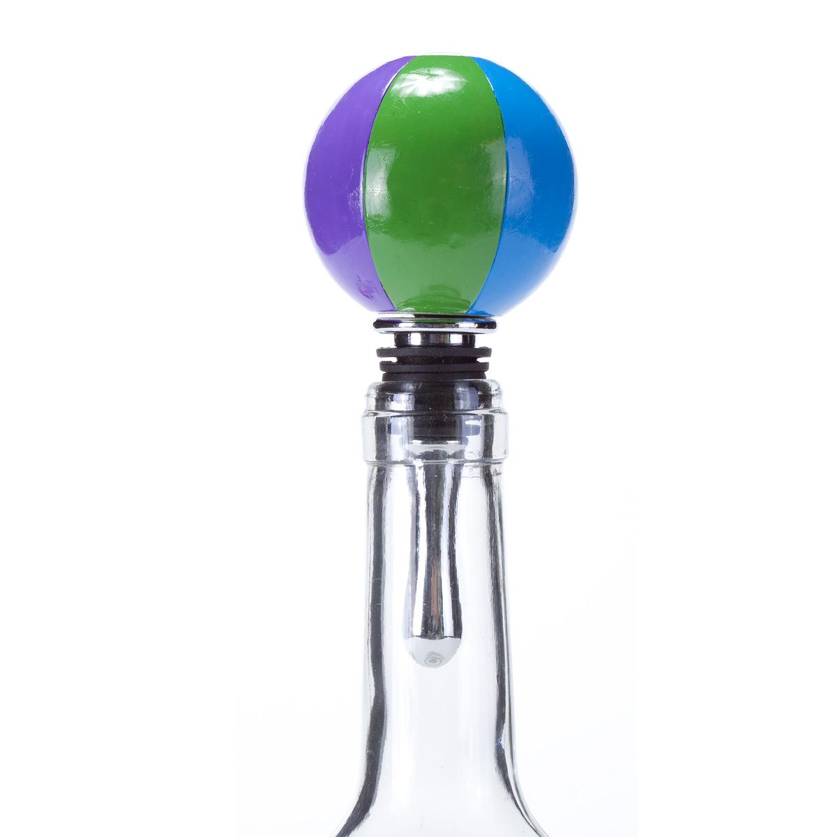 Beach Ball Wine Bottle Stopper