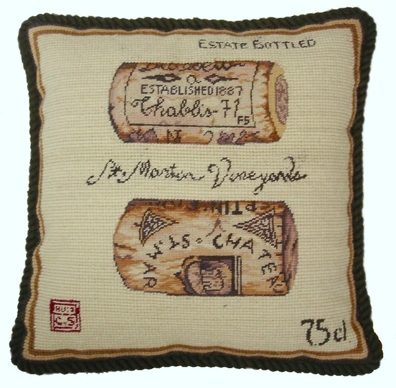 """St. Martin Vineyards"" Pillow"