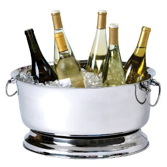 Banquet Double Wall Oval Party Tub, Heavy Duty