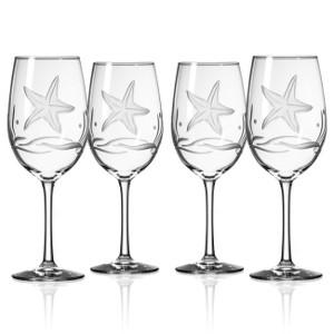 Starfish All Purpose Large Wine Glasses (set of 4)