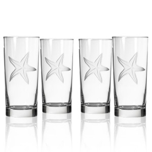 Starfish Highball Glasses (set of 4)