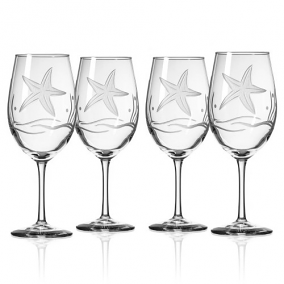 Starfish White Wine Goblets (set of 4)