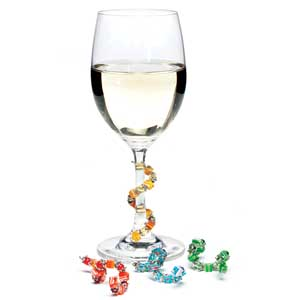 Fiona Stemware Bangles Beverage Markers for Wine Glasses