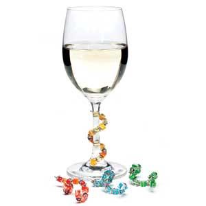 Fiona Stemware Bangles Beverage Markers for Wine Glasses