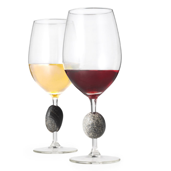 Stone Wine Glasses Set of 2
